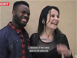 porn starlet nails Random fledgling man With wifey Filming