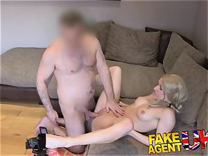 FakeAgentUK stiff muff penetrating for red-hot first-timer