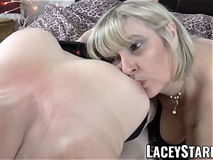 LACEYSTARR - two big-chested grandmas pleasing one fortunate rod