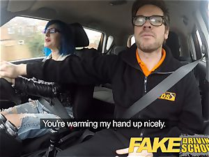faux Driving college instructor pops over learners twat