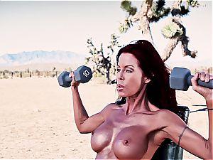 Tabitha Stevens exercises in the sun