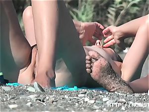 nudist beach with nasty naked damsels
