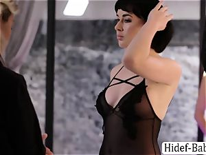 two greatest Anissa Kate and Olive Glass models loves gobbling their twats