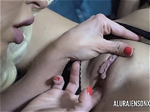 Alura and her huge-boobed girl-on-girl acquaintance Dolly get wild