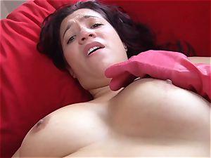 OPERACION LIMPIEZA - Latina Ana Mesa gets pounded deep