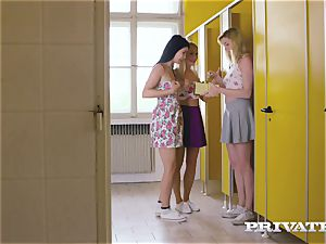 Private.com - girl-on-girl three way in the wc