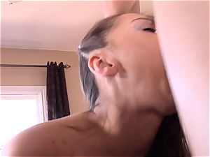 Pint sized Sara Luvv humps her fathers friend