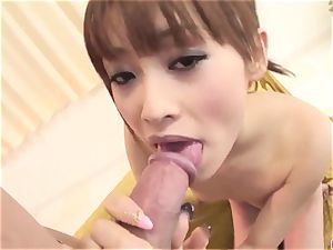 Miina Yoshihara suffers never-ending inches of pecker in her w