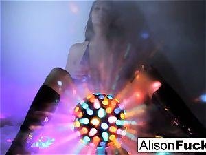 luxurious yam-sized jugged disco ball babe
