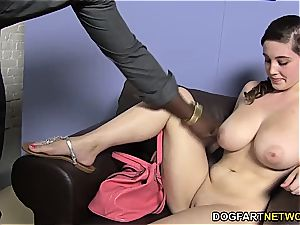 Noelle Easton tries a fat cocked ebony man