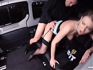 humped IN TRAFFIC - magnificent Russian woman super-hot car pulverize
