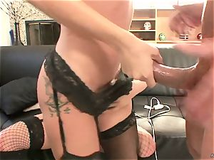 naughty Tory Lane gives Amy Brooke a dual dipping
