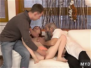 elderly granny sudden experience with an old gentleman