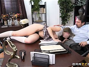 mischievous student Lena Paul banged by headmaster