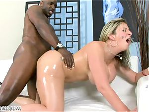 yankee housewife wanking a giant piece of black meat