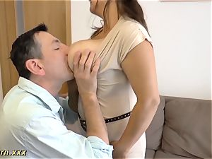buxom german plus-size nubile breast screwed