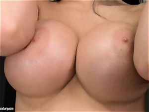Aletta Ocean three way as she bj's off a duo of peckers