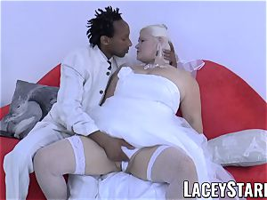 LACEYSTARR - grandma bride fed with cum after boinking