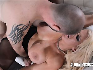 huge-chested towheaded Alura Jenson luvs a dude in uniform