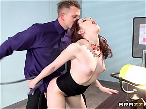 red sizzling secretary Ember Stone punished by her manager
