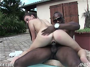 AnissaKate My bf's thick dark-hued manmeat drilled my tiny ASSHO