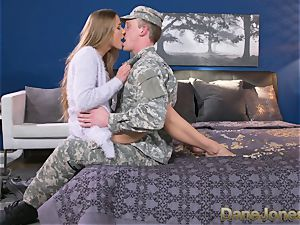 Dane Jones firm deep-throating and screwing messy Army wife