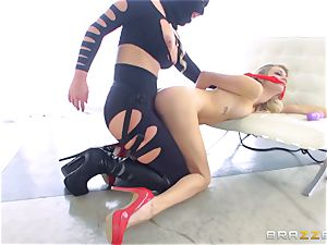 dominatrix Phoenix Marie gets her forearms on Blake Eden