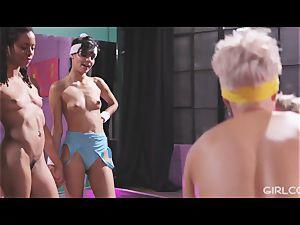 GIRLCORE Aerobics Class Leads to girly-girl splashing fucky-fucky