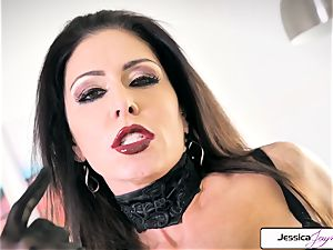 Jessica Jaymes demonstrate her ample knockers and lil' humid beaver