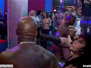 Mass porn hump in a striptease bar