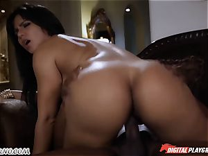 black stud has fucky-fucky with fabulous rich doll Rose Monroe