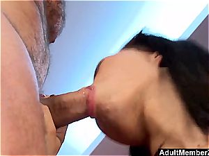 large milf with big all-natural titties gets a decent ravaging