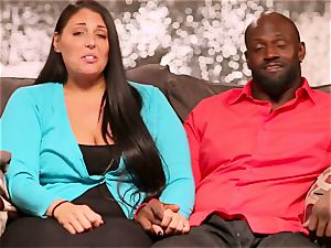 interracial duo calls upon a dark acquaintance to come over for steamy threesome