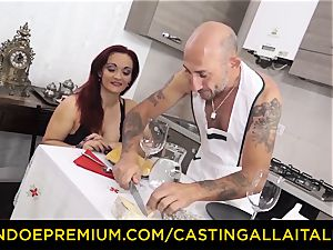 casting ALLA ITALIANA - huge-boobed newcomer goes for assfuck hook-up