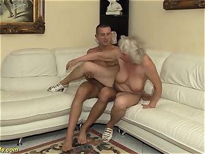 75 years elder granny first-ever porno video