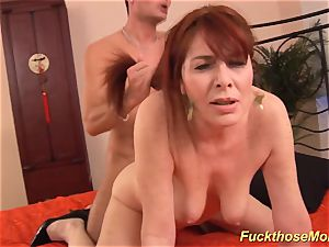 red-haired stepmom need a strenuous shaft