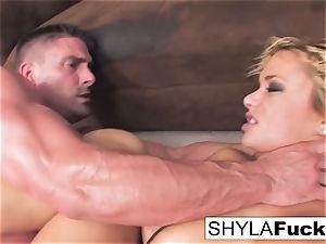 Shyla's firm ass-fuck pound and a facial cumshot