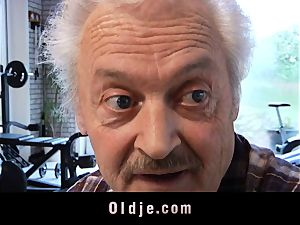 elderly man's audition a super-fucking-hot nubile
