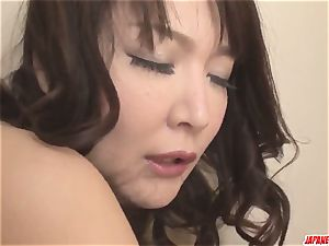huge-boobed Hinata Komine delectations with a lot of home plaything lovemaking
