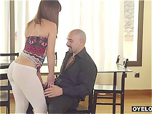 Latina seduced and boinked by lecturer