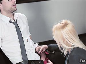 secretary Lola Taylor pounds her partner after hours