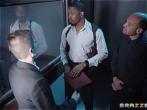 draped ebony detective assfucking a platinum-blonde cutie