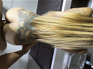 Yurizan Beltran hammered rigid after caught with the flogged splooge and dancing
