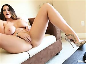 huge jugged beauty Alison Tyler plays with her vag