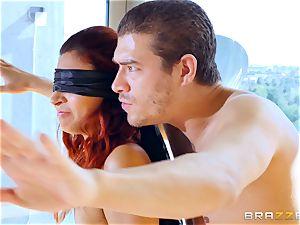 eyes covered double penetration for Jade Jantzen