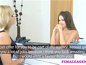 FemaleAgent stunning casting concludes in lesbian zeal orgasms