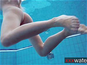 Milana makes a flash in the pool