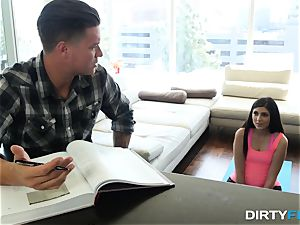 dirty Flix - tough plumb for yoga stepsister