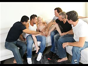 Maddy Rose endures her very first gang-fuck