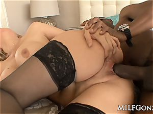 MILFGonzo ample tit Julia Ann cheats with a large ebony dick